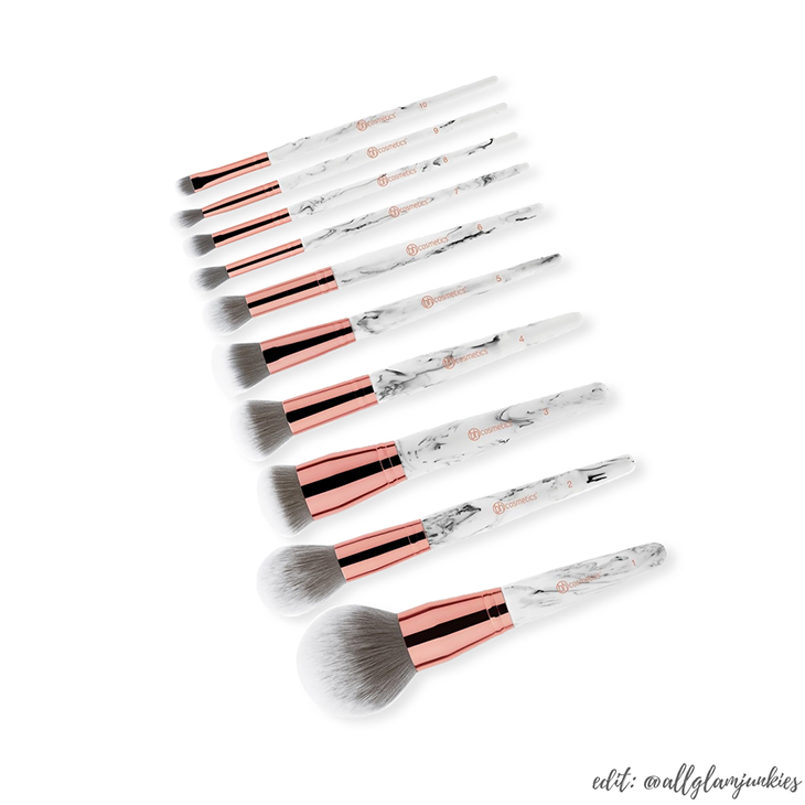 Glam Junkies Neu Bh Cosmetics Marble Luxe 10 Teiliges Pinselset