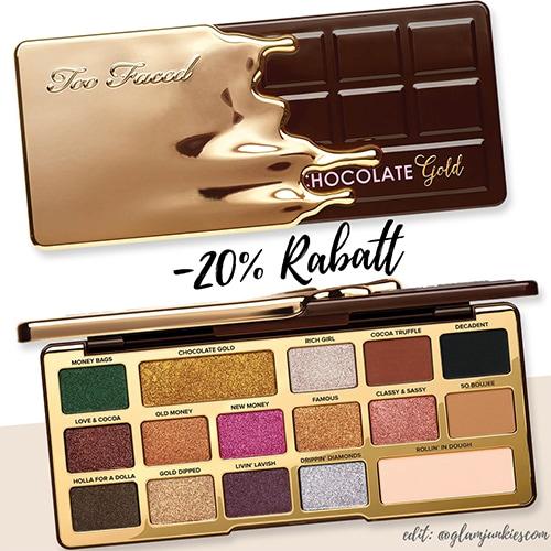 Angebot] - 20% Rabatt auf die Too Faced Chocolate Gold ...